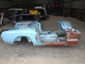 Spitfire MK3 body stripped ready for blasting